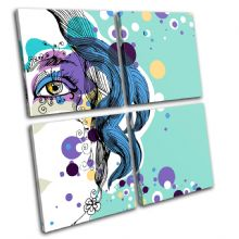 Abstract Girl Blue Fashion - 13-0223(00B)-MP01-LO